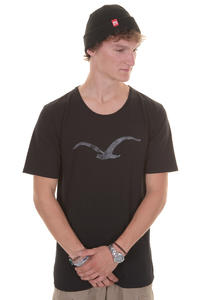 Cleptomanicx Möwe Scrible Scoop T-Shirt (black)