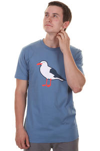Cleptomanicx Gull T-Shirt (captains blue)