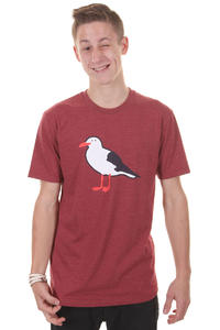 Cleptomanicx Gull T-Shirt (heather dried tomato)