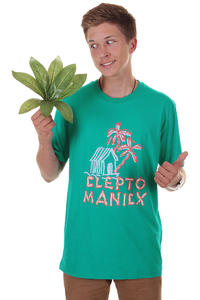 Cleptomanicx Cabana T-Shirt (turquoise)