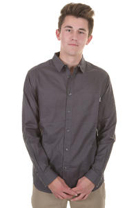 Cleptomanicx Plain Linen Shirt (periscope grey)