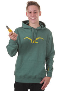 Cleptomanicx Möwe Hoodie (heather spruce green)