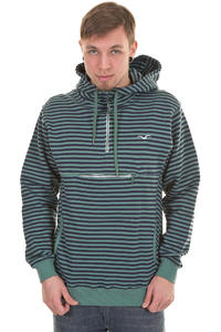 Cleptomanicx Ministripe Hoodie (spruce green)