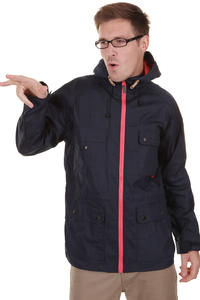 Cleptomanicx Aaljäger Waxed Jacke (dark navy)