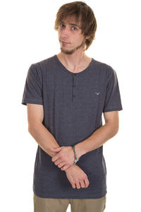 Cleptomanicx Ligull Henley T-Shirt (heather dark navy)