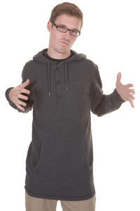 Cleptomanicx Ligull Henley 3000 Hoodie (heather black)