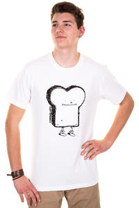 Cleptomanicx Toast T-Shirt (white)