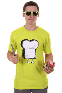 Cleptomanicx Toast T-Shirt (acid yellow)