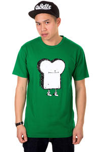 Cleptomanicx Toast T-Shirt (jolly green)