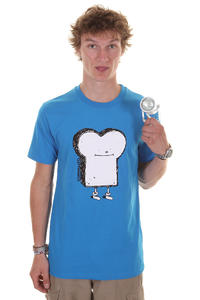 Cleptomanicx Toast T-Shirt (fly blue)