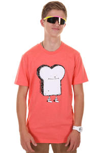 Cleptomanicx Toast T-Shirt (heather hot coral)