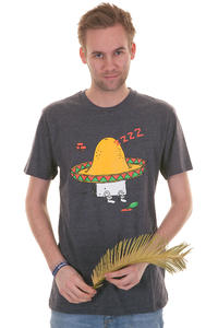 Cleptomanicx Sombrero T-Shirt (heather dark navy)