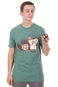 Cleptomanicx Sherlock Holmes &amp; Doktor Watson T-Shirt (spruce green)