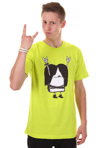 Cleptomanicx Metal Toast T-Shirt (acid yellow)