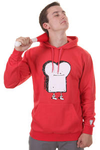 Cleptomanicx Toast Hoodie (red)