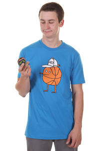 Cleptomanicx Basketball Zitrone T-Shirt (fly blue)
