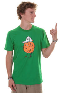 Cleptomanicx Basketball Zitrone T-Shirt (jolly green)