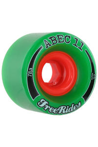 ABEC 11 Classic Freeride 66mm 78a Rollen 4er Pack  (green)