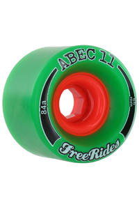 ABEC 11 Classic Freeride 66mm 84a Rollen 4er Pack  (green)