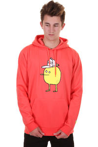 Cleptomanicx Zitrone Hoodie (hot coral)