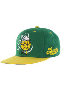 Cleptomanicx Lemons Snapback Cap (jolly green)