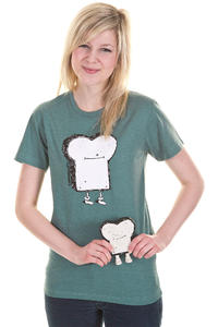 Cleptomanicx Toast T-Shirt girls (heather spruce green)