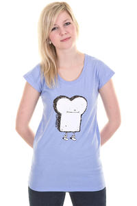 Cleptomanicx Toast Scoop T-Shirt girls (heather bank blue)
