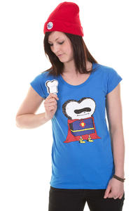 Cleptomanicx Superman Toast Scoop T-Shirt girls (fly blue)