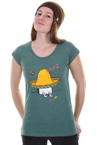 Cleptomanicx Sombrero Toast Scoop T-Shirt girls (heather spruce green)