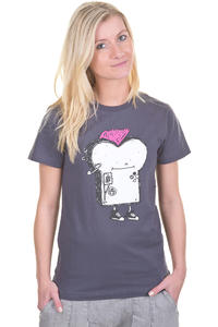 Cleptomanicx Punker Toast T-Shirt girls (periscope grey)
