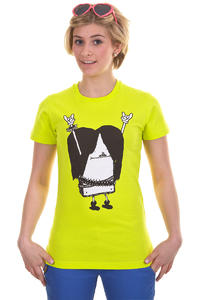Cleptomanicx Metal Toast T-Shirt girls (acid yellow)