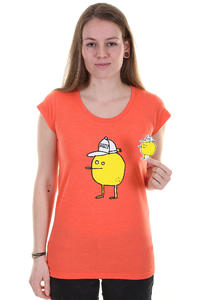 Cleptomanicx Zitrone Scoop T-Shirt girls (heather hot coral)