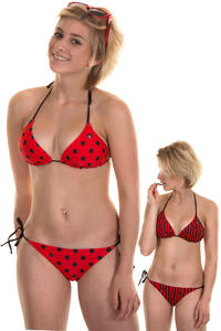 Volcom Dada Dot Bikini Top reversible  girls (red)