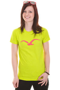 Cleptomanicx Mwe T-Shirt girls (heather acid yellow)