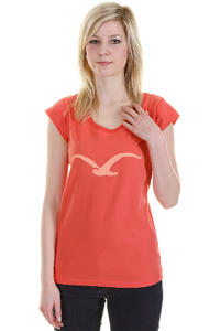 Cleptomanicx Möwe Scoop T-Shirt girls (hot coral)