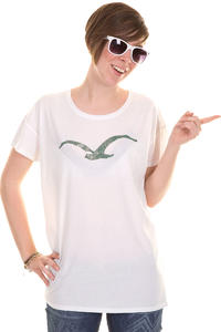 Cleptomanicx Möwe Scribble 2 T-Shirt girls (white)