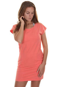 Cleptomanicx Organicx Melange Dress girls (heather hot coral)