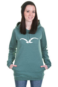 Cleptomanicx Möwe Long Hoodie girls (heather spruce green)