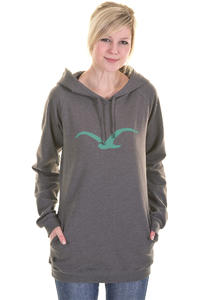 Cleptomanicx Möwe Long Hoodie girls (heather dark brown)