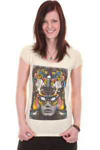 Volcom Virginie Mask T-Shirt girls (moonbeam grey)