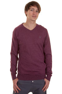 Volcom Standard V Neck Sweatshirt (cabernet)