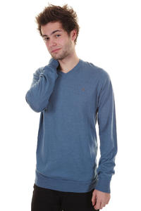 Volcom Standard V Neck Sweatshirt (camper blue)