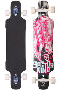 Sector 9 Eye Dropper 41.8&quot; (106,2cm) Complete-Longboard (pink)
