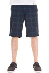 Volcom Frickin Plaid Shorts (dark navy)
