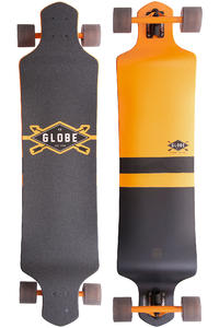 "Globe Geminon Drop-Down 41"" (104cm) Complete-Longboard (fluoro yellow black)"