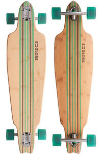 Globe Prowler Bamboo 38&quot; (96,5cm) Complete-Longboard (bamboo clear green)