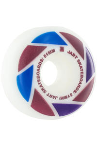 Jart Skateboards Blade Logo 51mm Rollen 4er Pack  (purple blue red)