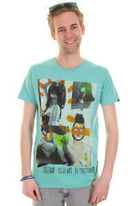 Globe Collage Girls T-Shirt (aqua)