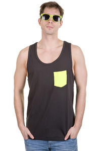 Globe Panel Tank-Top (vintage black)