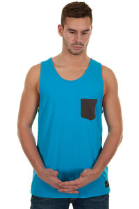 Globe Panel Tank-Top (neon blue)